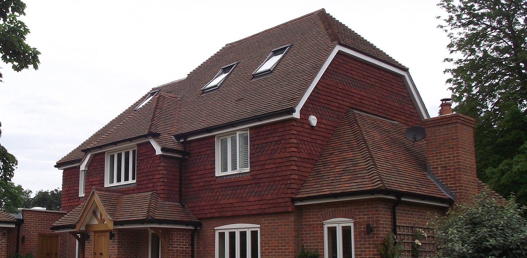 Lifestiles - Handcrafted Autumn Clay Roof Tiles - Seven Oaks, England