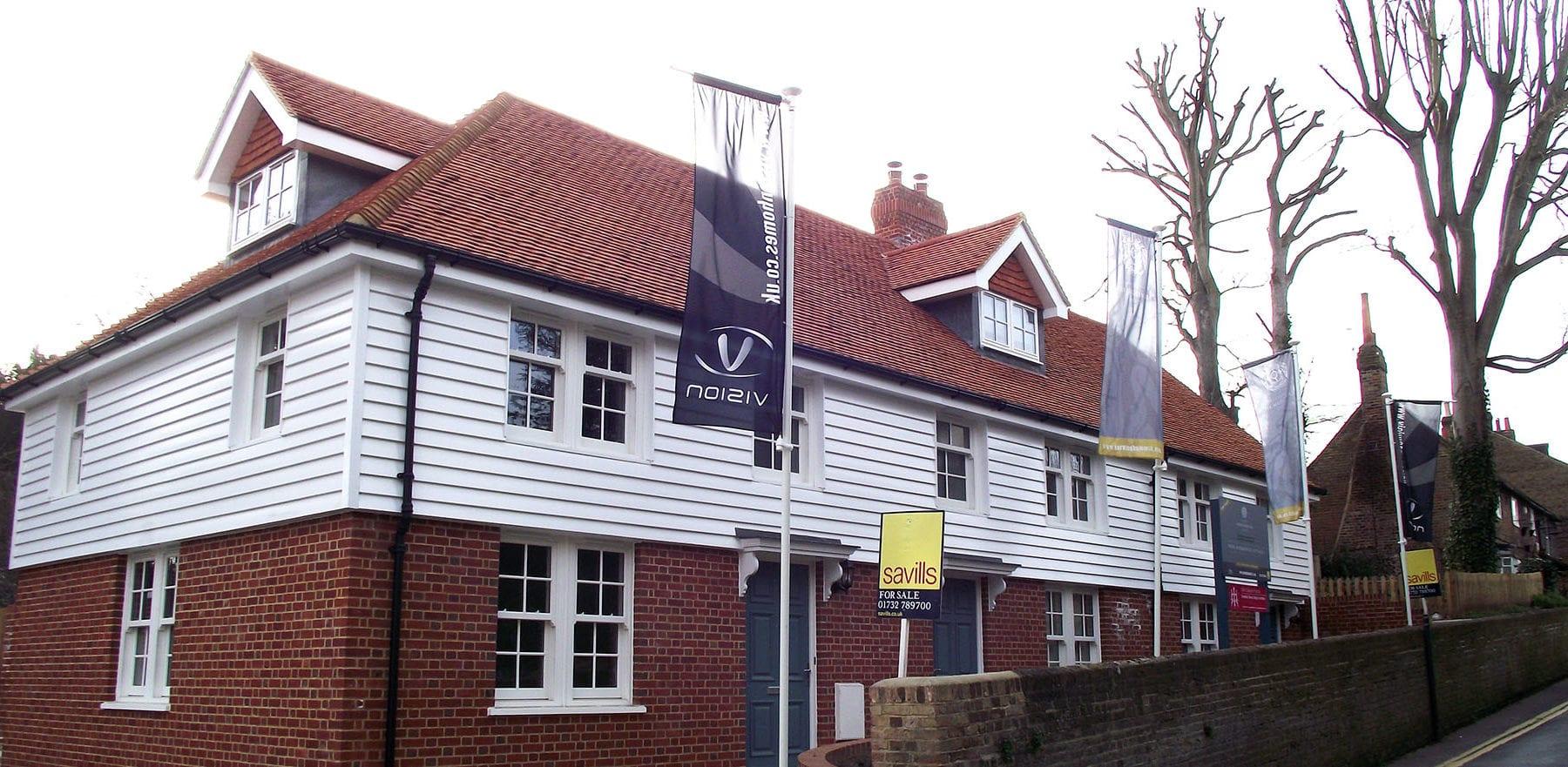 Lifestiles - Handcrafted Orange Clay Roof Tiles - Farningham, England