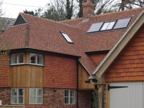 Lifestiles - Handcrafted Orange Clay Roof Tiles - Liss, England