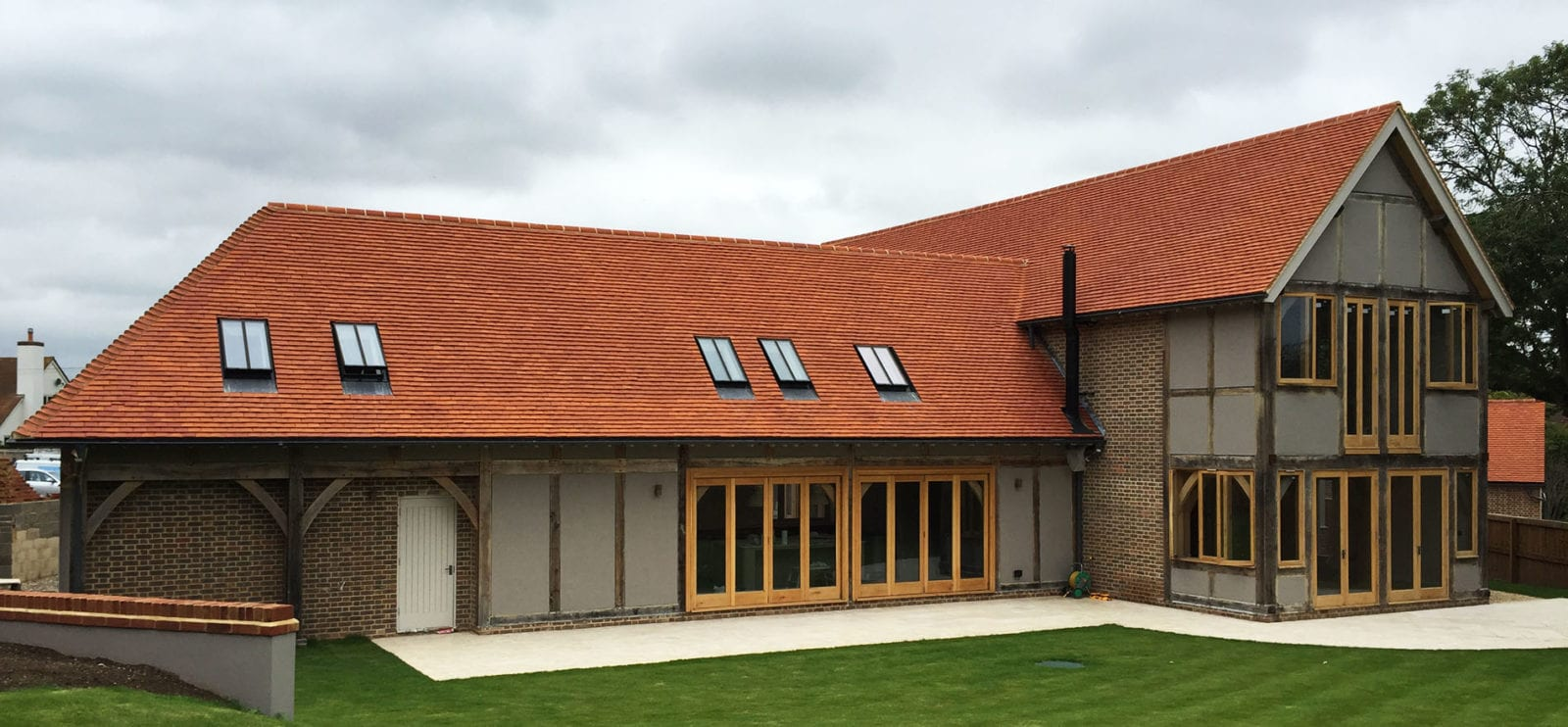 Lifestiles - Handcrafted Orange Clay Roof Tiles - Upthorpe, England