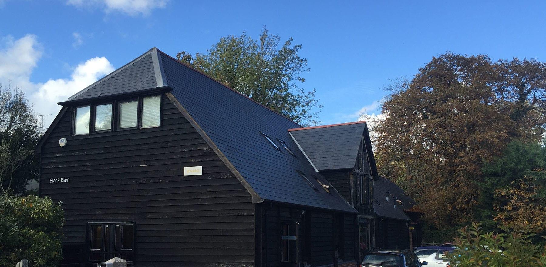 Lifestiles - Spanish Natural Slate Roof Tiles - Black Barn, England