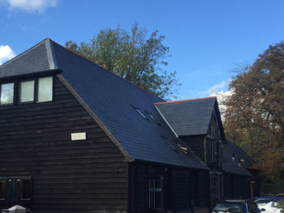 Lifestiles - Spanish Natural Slate Roof Tiles - Black Barn, England