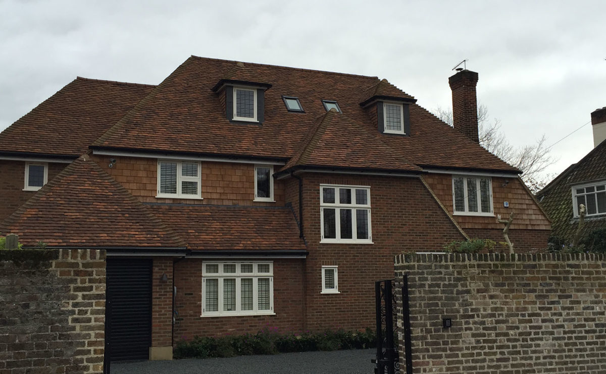 Lifestiles - Handmade Oakhurst Clay Roof Tiles - Hampton Hill, England
