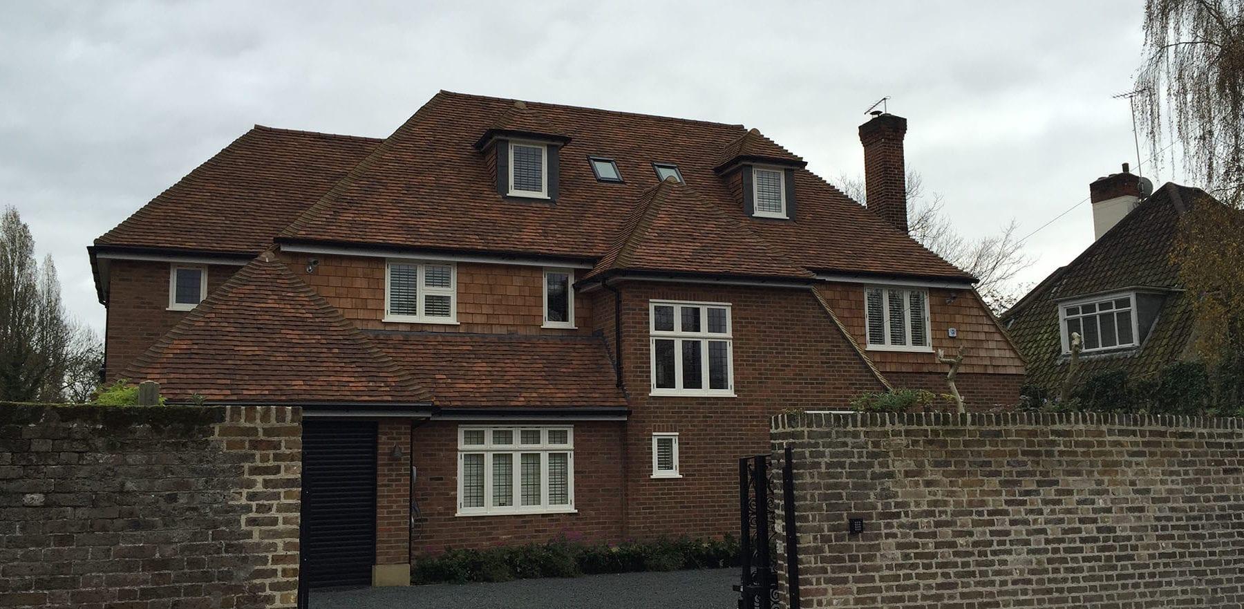 Lifestiles - Handmade Oakhurst Clay Roof Tiles - Hampton Hill, England 2