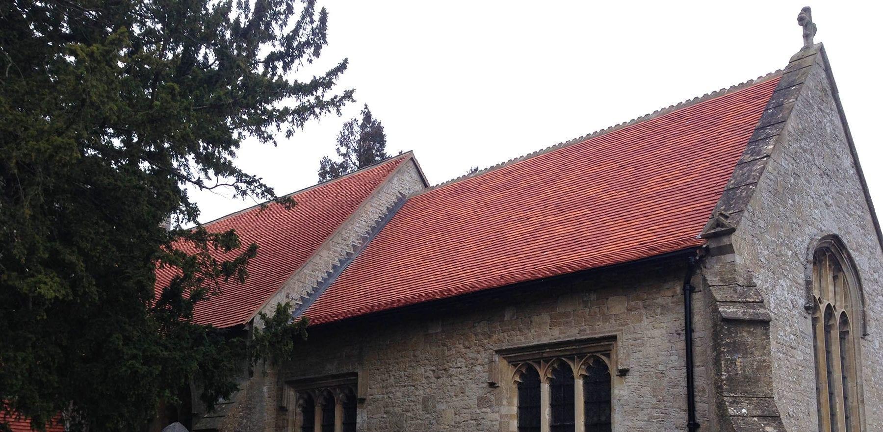 Lifestiles - Handcrafted Orange Clay Roof Tiles - Letcombe, England 3