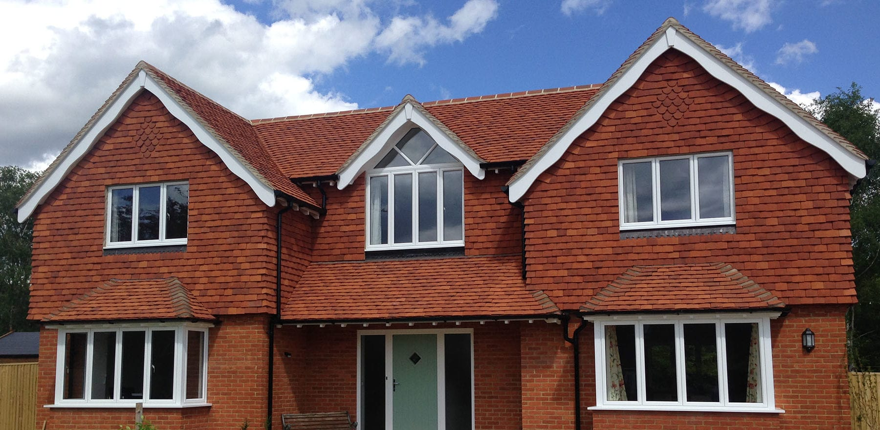 Lifestiles - Handmade Orange Clay Roof Tiles - Bookham, England 2