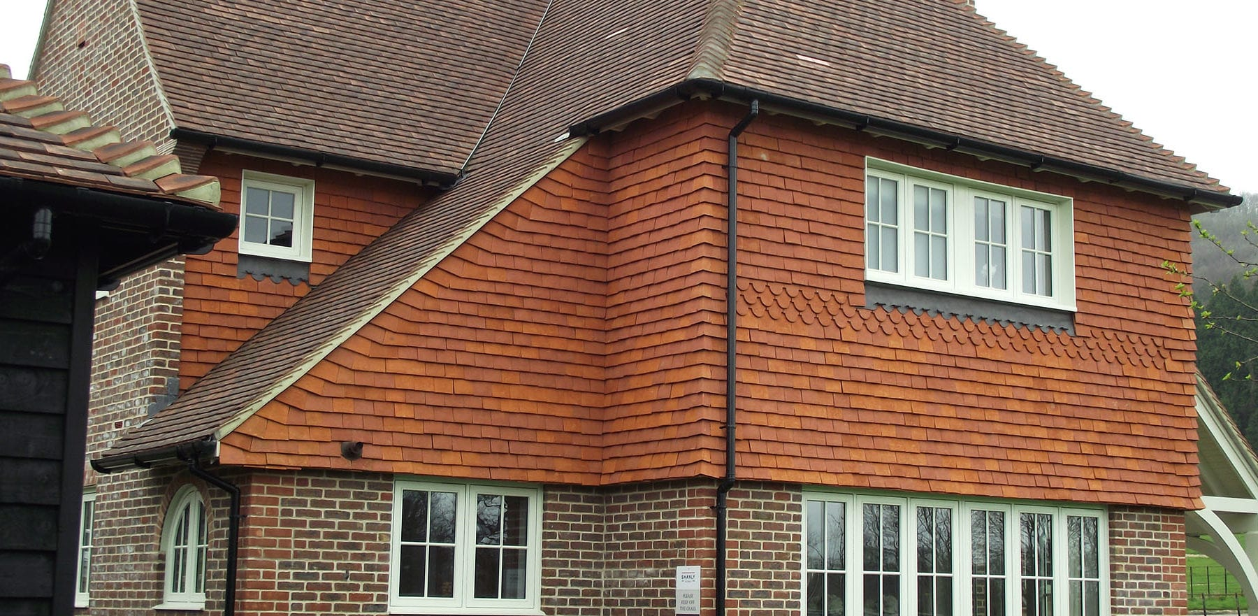 Lifestiles - Handcrafted Orange Clay Roof Tiles - Seaford College, England 2