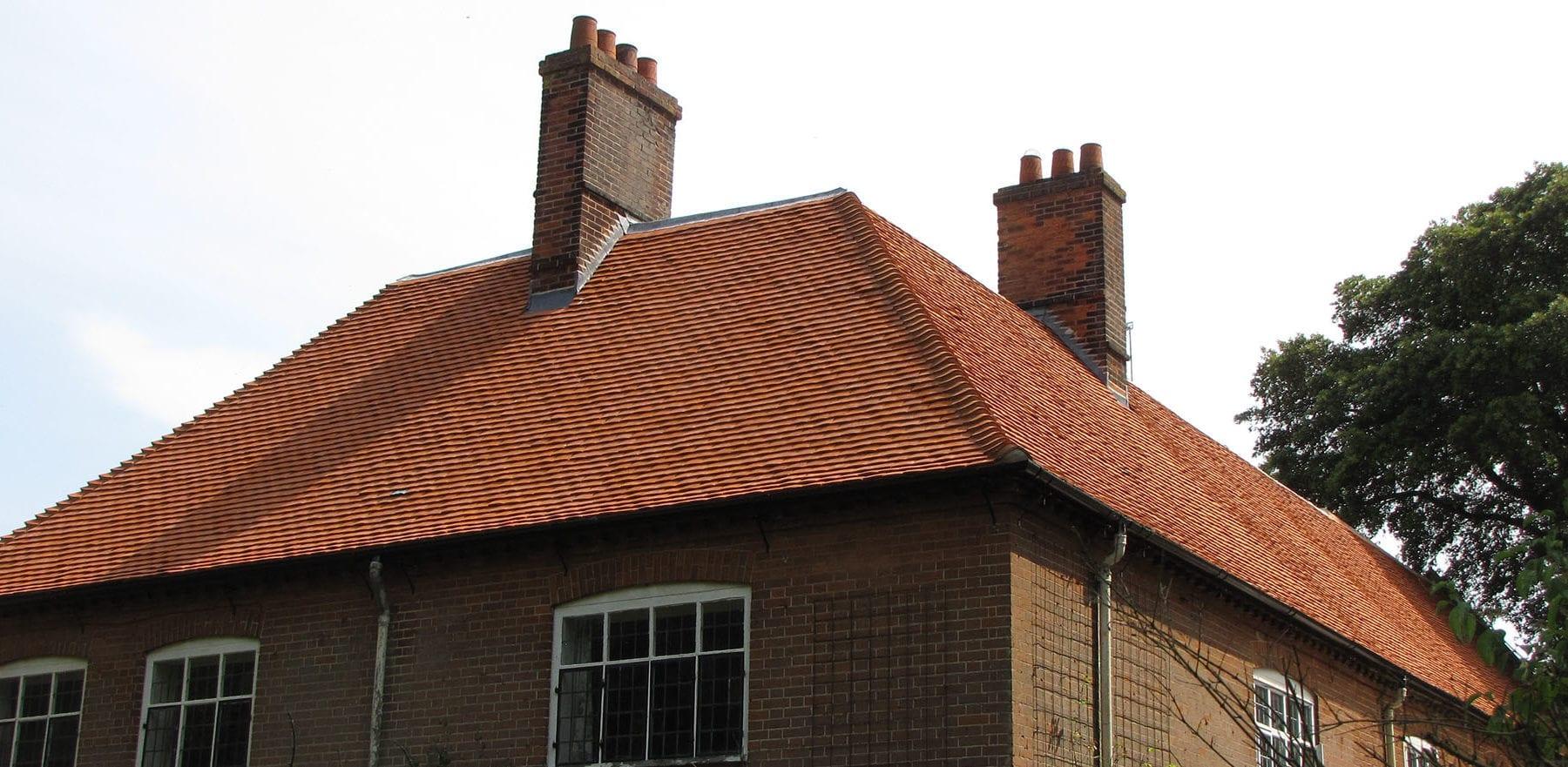 Lifestiles - Handcrafted Orange Clay Roof Tiles - Wisset Hall, England 2