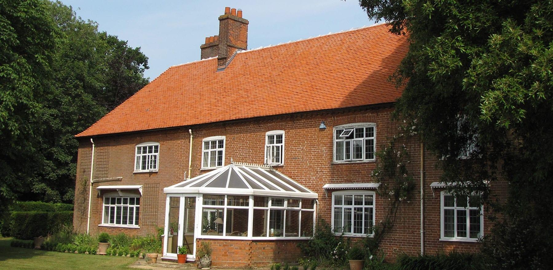 Lifestiles - Handcrafted Orange Clay Roof Tiles - Wisset Hall, England 3