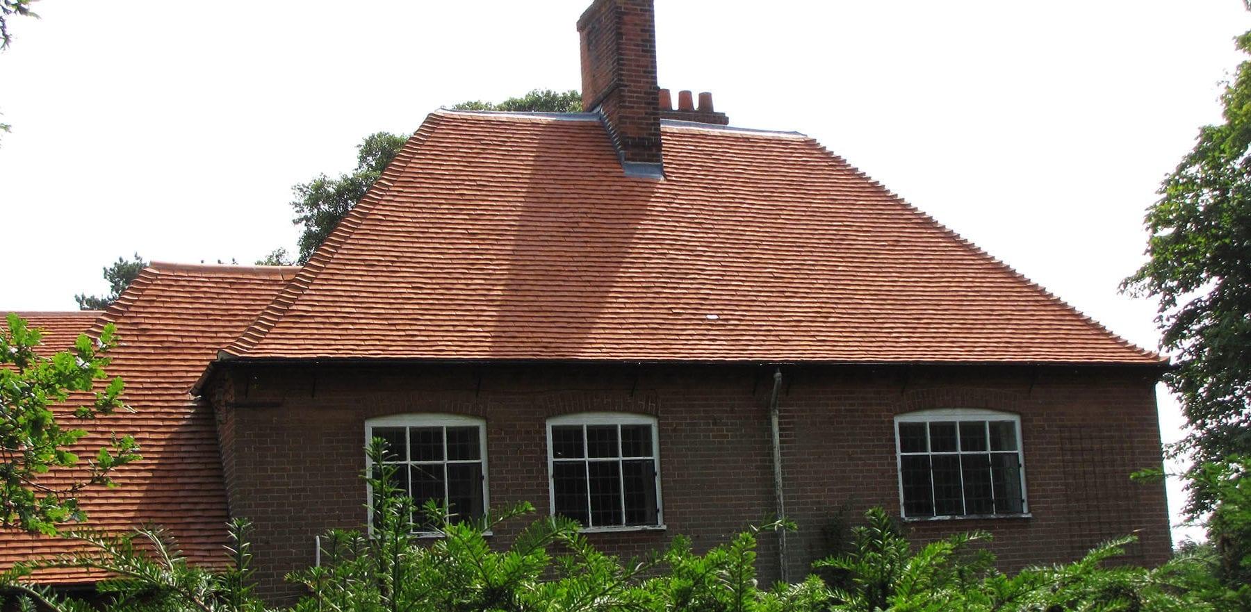 Lifestiles - Handcrafted Orange Clay Roof Tiles - Wisset Hall, England 4