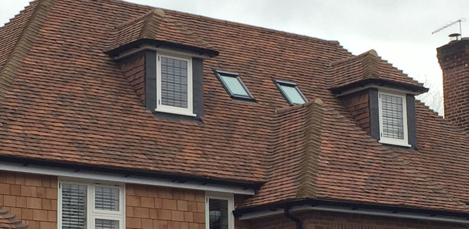 Lifestiles - Handmade Oakhurst Clay Roof Tiles - Hampton Hill, England 5