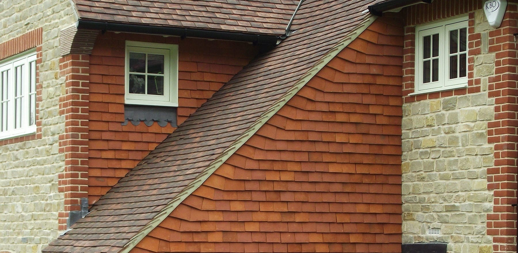 Lifestiles - Handcrafted Orange Clay Roof Tiles - Seaford College, England 6