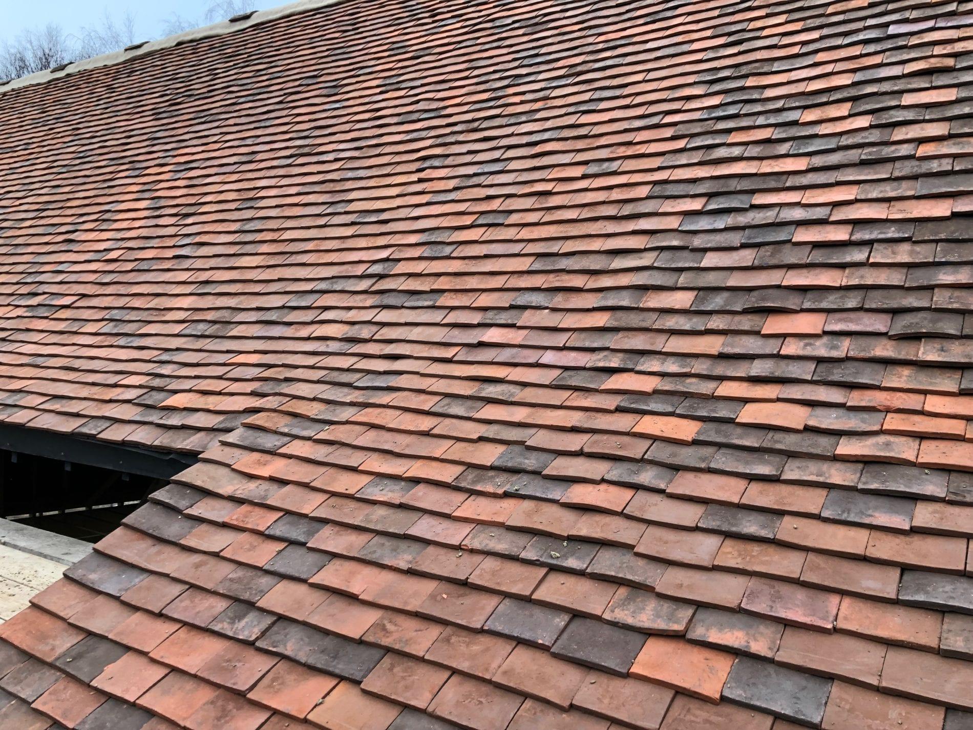 Lavenham handmade tiles roofscape