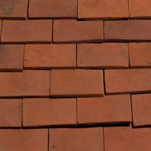 Red Handmade Clay Tile