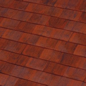 machine made Flame Red clay roof tile swatch