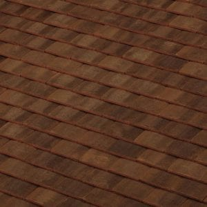 machine made new forest clay roof tile swatch