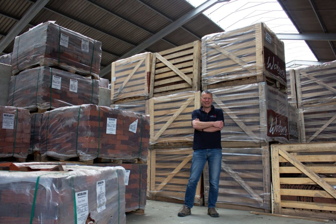 Dave standing proud in the big new Lifestiles warehouse